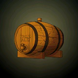 麦酒木桶 - 适量饮用优质、淡黄的麦酒是让全家健康的妙法。