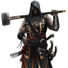Concept-art van Adéwalé als Assassijn.