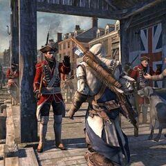 一名英国士兵阻止康纳前进