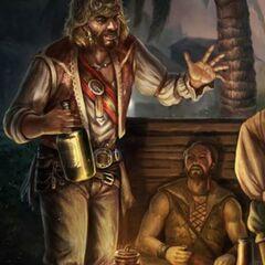 <i>记忆</i>中拉克姆和其他海盗的艺术图