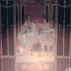 墓室北墙壁画,描绘了正在<a href=