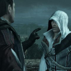 Mario waarschuwt Ezio over zijn gedrag tegen de doden.