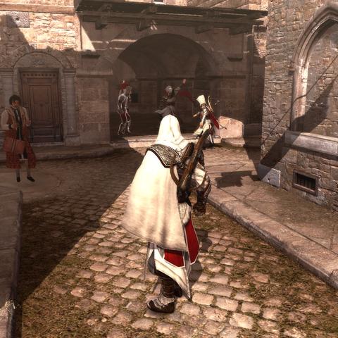 Ezio faisant appel à ses <a href=