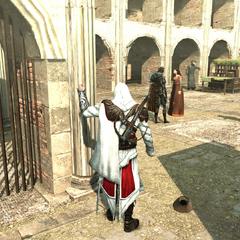 一名刺客新兵正要杀死西尔维斯特罗