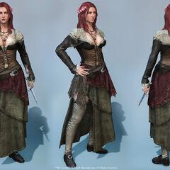 Het model van Anne van verschillende kanten.