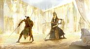 ACO Bayek and Akhenaten Fight - Visual Exploration
