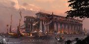 ACO Cleopatra Barge Concept Art - Martin Deschambault