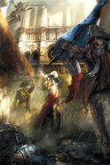 ACU Assassin Révolutionnaires feu cathédrale concept