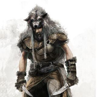 Un Adepte de Romulus portant une peau de <b>loup</b>