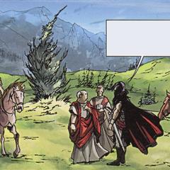 Le préfet de Lugdunum rencontrant les Alamans