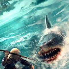爱德华猎杀鲨鱼的设定图