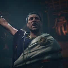 Brutus annonçant la mort de César