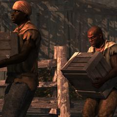 Adéwalé disguising himself as a slave