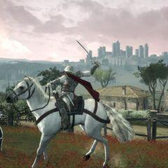 Ezio在城外骑 <a href=