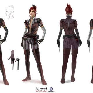 红发女基础和高级装备设定图