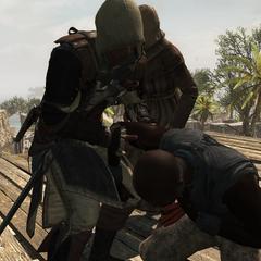 爱德华从绞刑架上救了一名海盗