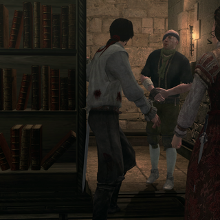 Paganino tentant de s'échapper avec les autres