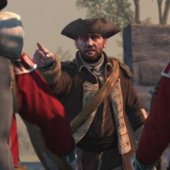 西拉斯在南门堡向属下下令