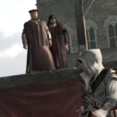 Ezio désarmé par une Brute