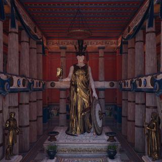大理石与黄金铸成的雅典娜神像