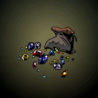 一袋宝石 - 虽然细小但充满价值。这海盗在<a href=
