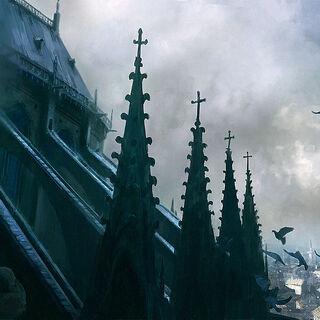 巴黎圣母院屋顶的概念设定图