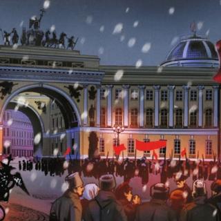 俄国革命期间的宫殿广场