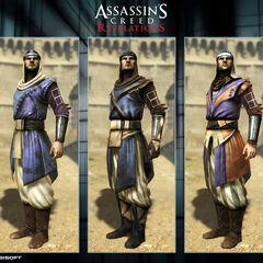 Development artwork of the Vizier's customization