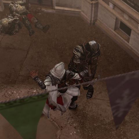 Ezio assassinant l'un des interrogateurs