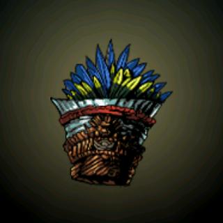 圣鸟头饰 - 这个头饰是对天体鸟的尊崇,是马雅创造的神话代表。