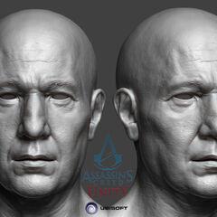 夏尔的头部模型