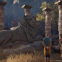 希罗多德和卡珊德拉瞻仰列奥尼达斯之狮