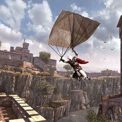 Ezio sautant en parachute