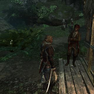 Kidd présentant les contrats d'assassinat à Edward