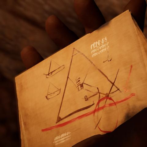 一幅由卡丽塞特绘制的大金字塔