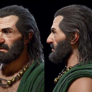 欧里庇得斯的头部模型