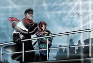 Nikolai e Anna sulla nave