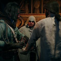 米拉波欢迎亚诺加入刺客兄弟会