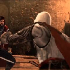 切萨雷和埃齐奥在维安那战斗