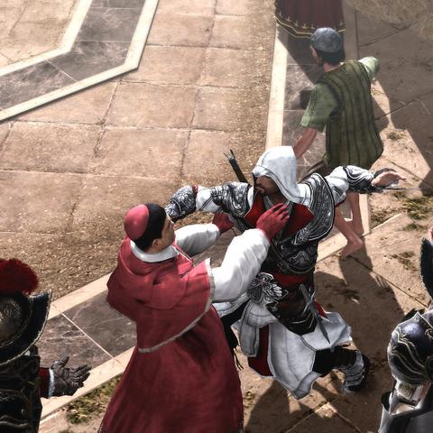 Ezio assassinant le cardinal