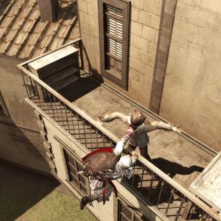 Ezio réalisant un empoignement