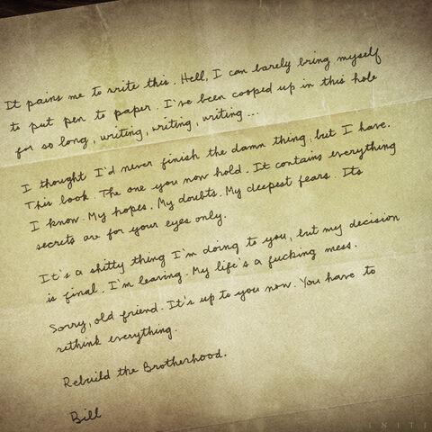 威廉的辞职信