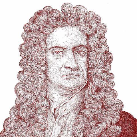 艾萨克·牛顿的画像