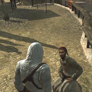 Altaïr interrogeant Masun