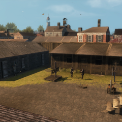 The slave trader's holding area