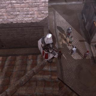 Ezio assistant à l'arrestation de Vincenzo
