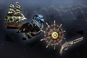 Schiffsausbau- und Pistolen-Set
