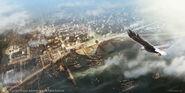 Vista panoramica New Orleans 1777 di EddieBennun