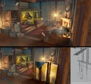 ACU Cafe Theatre Arno's Bed - Concept Art