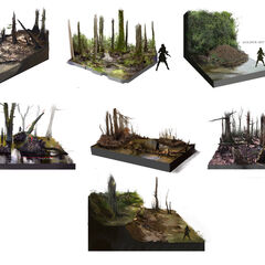 河口环境元素的设定稿
